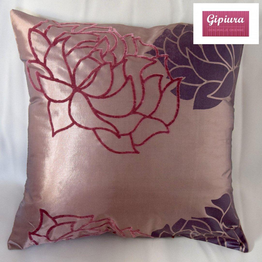 Poszewka Dekoracyjna Brudny Róż Kwiaty 40 X 40 Cm Poszewki